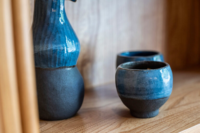 eco design living art gallery blue pottery