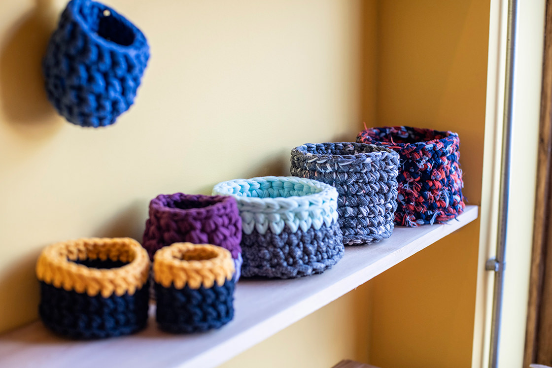 eco design living boutique upscycled fabric holders